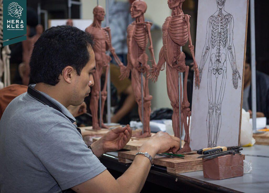 Curso de Anatomía Artística - Herakles Estudio de Escultura