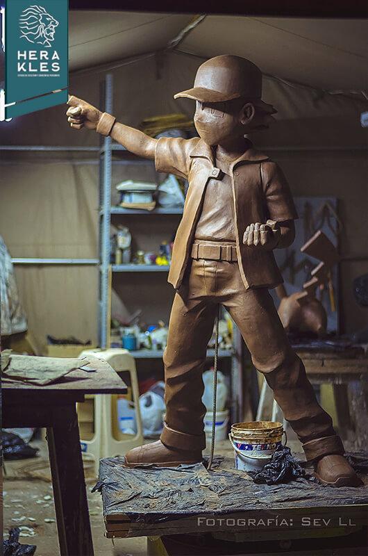 Ash Ketchum - Pokemon statue life size sculpture - Herakles Estudio