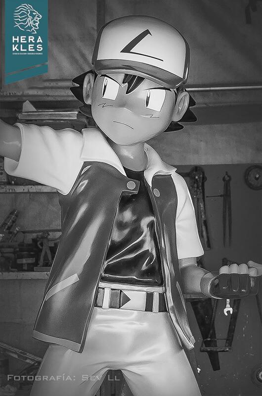 Ash Ketchum - Pokemon statue life size sculpture