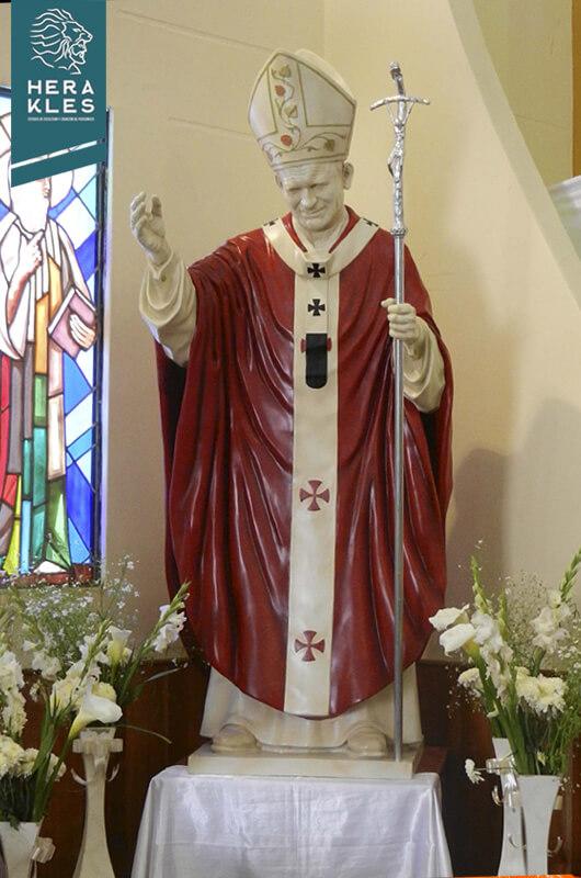 Escultura Papa Juan pablo II Herakles Estudio