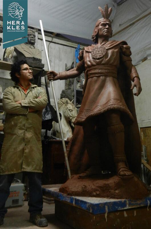 Estatua Inca Pachacutec - Herakles Estudio de Escultura