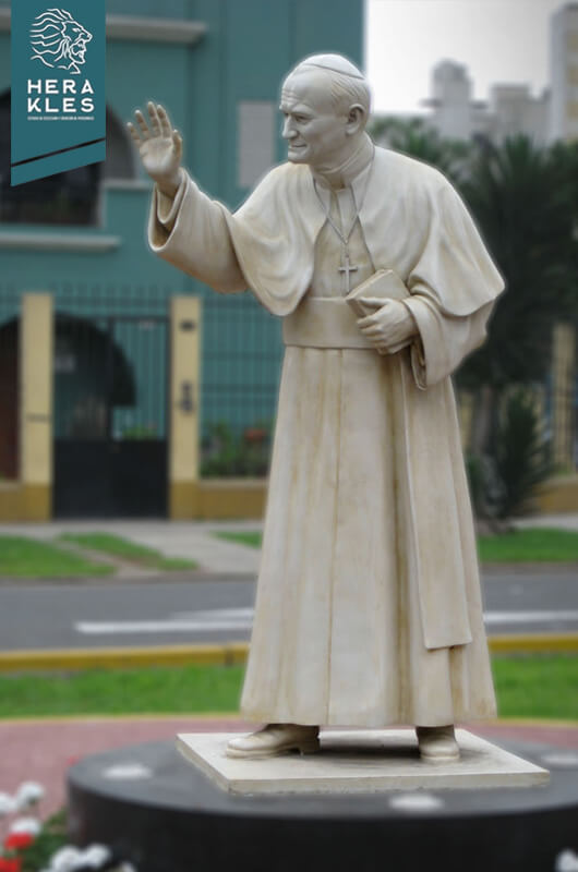 Estatua Papa Juan pablo II Escultura - Herakles Estudio