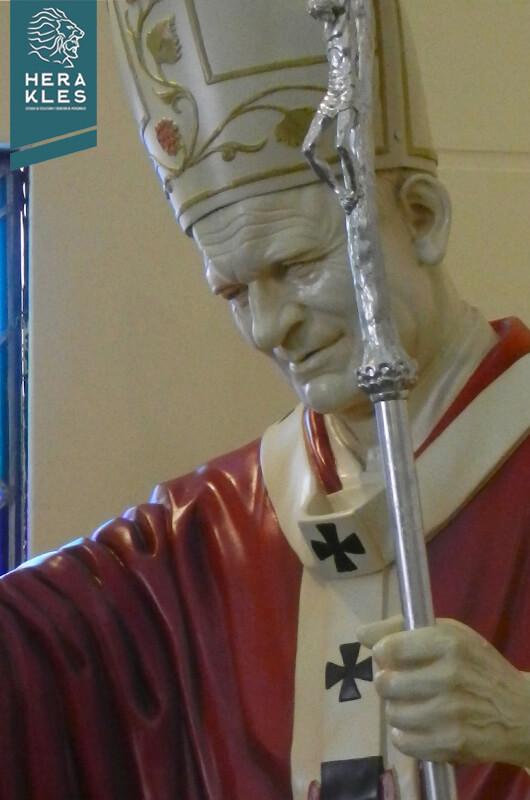 Estatua Papa Juan pablo II Escultura Herakles Estudio