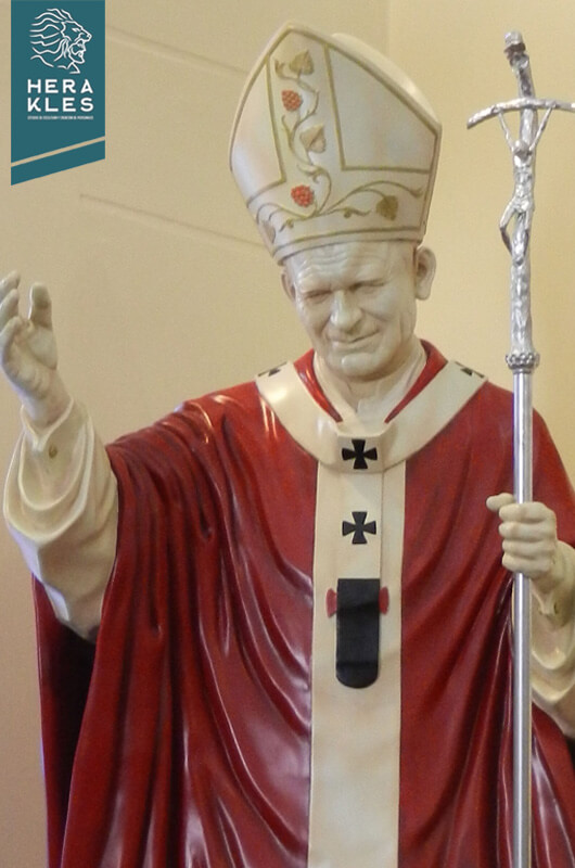 Papa Juan pablo II Estatuas Herakles Estudio Escultura