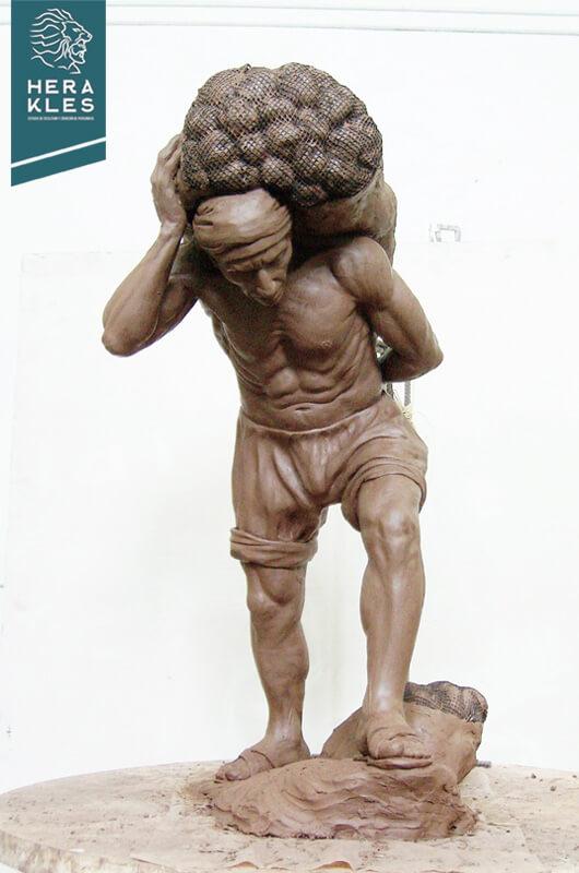 Estibador Escultura Herakles Estudio