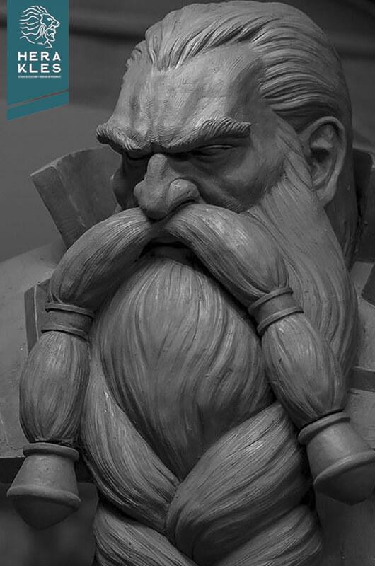 Magni Bronzebeard - Wow sculpture - Herakles Estudio