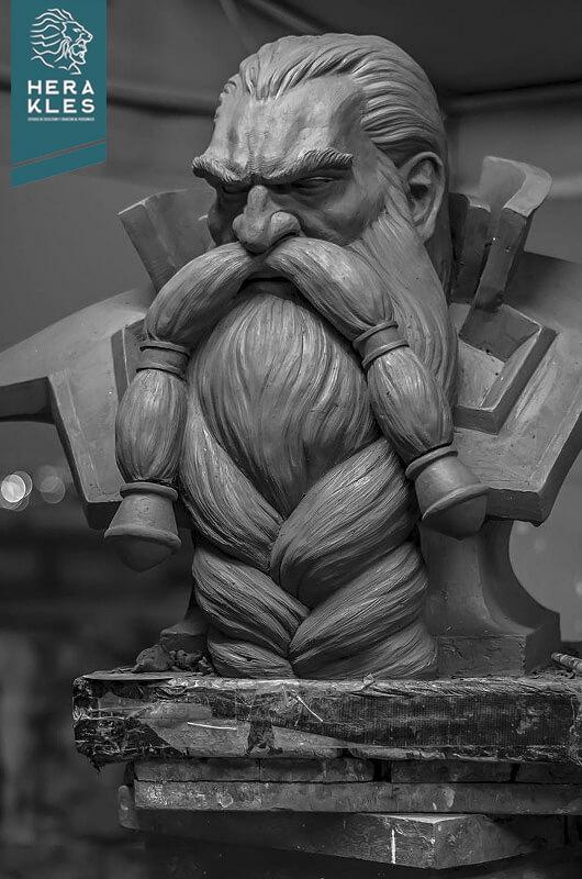 Magni Bronzebeard - Wow sculpture life size - Herakles Estudio