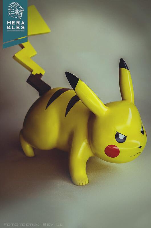 Pikachu Pokemon sculpture life size - Herakles Estudio