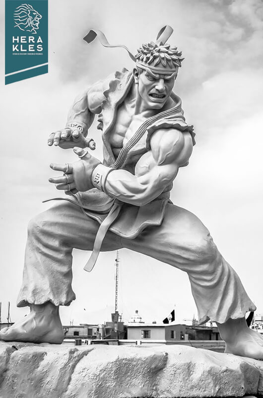 Ryu Street Fighter - Life size sculpture Herakles Estudio