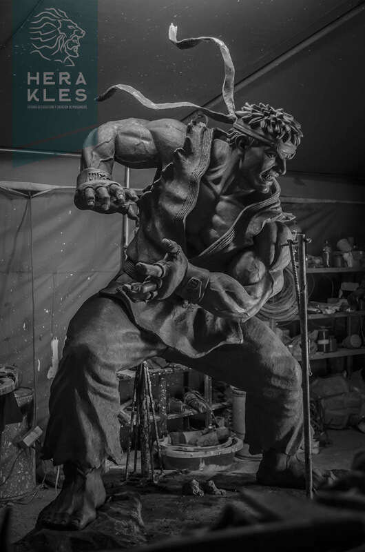 Ryu Street Fighter - sculpture Life size - Herakles Estudio