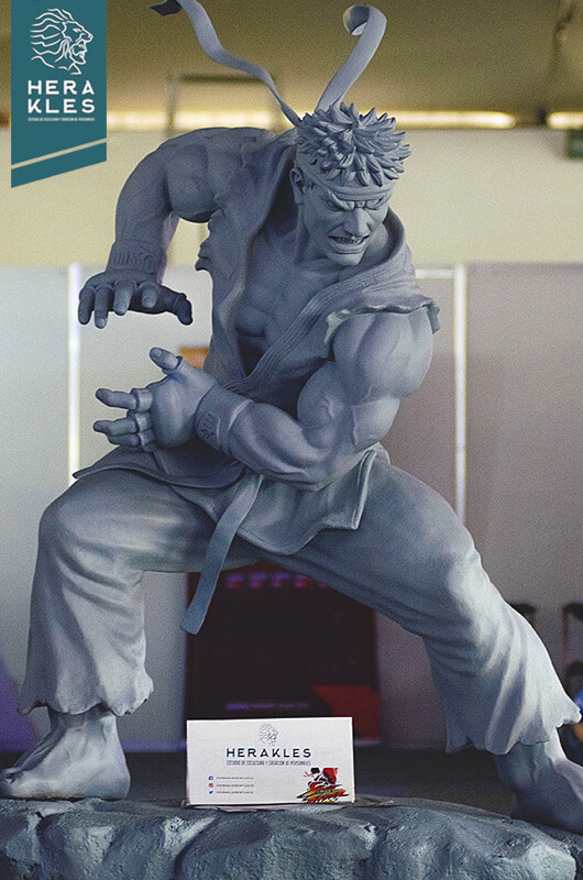 Ryu Street Fighter sculpture Life size Herakles Estudio