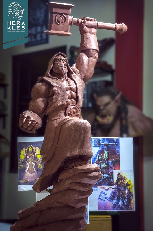 Warcraft - Thrall sculpture - Herakles Estudio