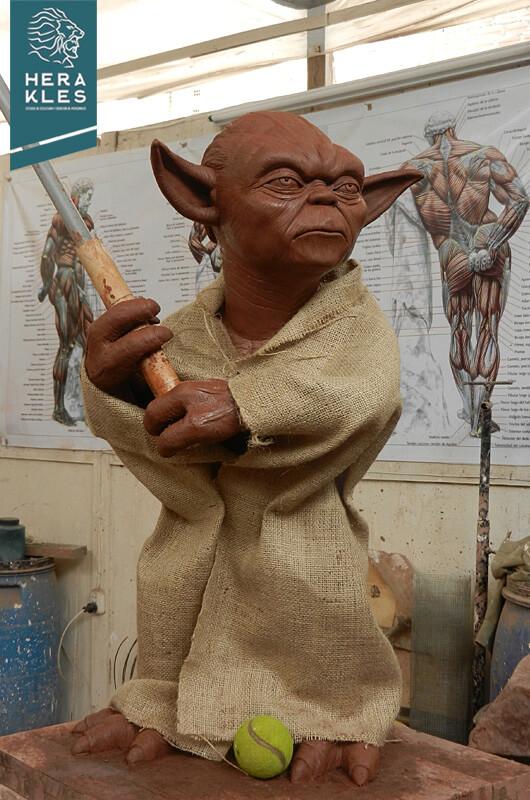 Yoda sculpture life size - Herakles Estudio