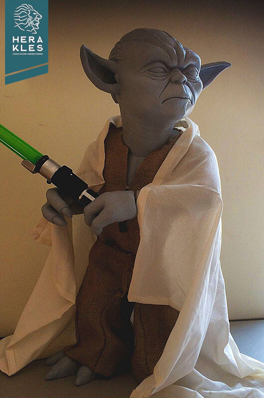 Yoda sculpture star wars - Herakles Estudio