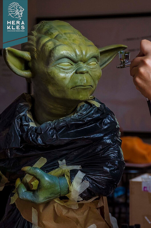 Yoda starwars sculpture - Herakles Estudio