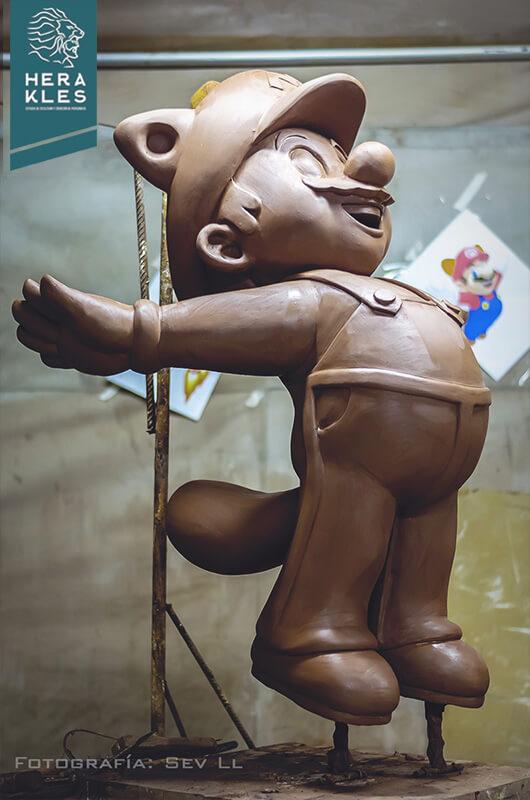 Mario Bros sculpture statue - Herakles Estudio de escultura