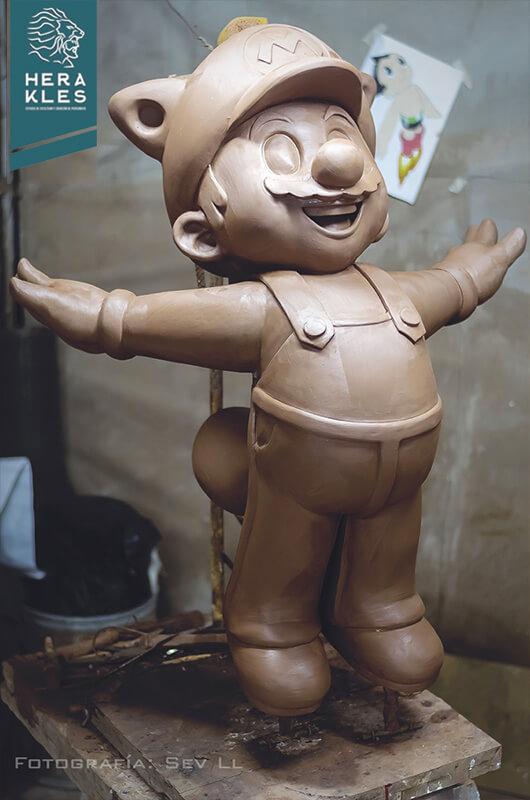 Mario Bros statue - Herakles Estudio
