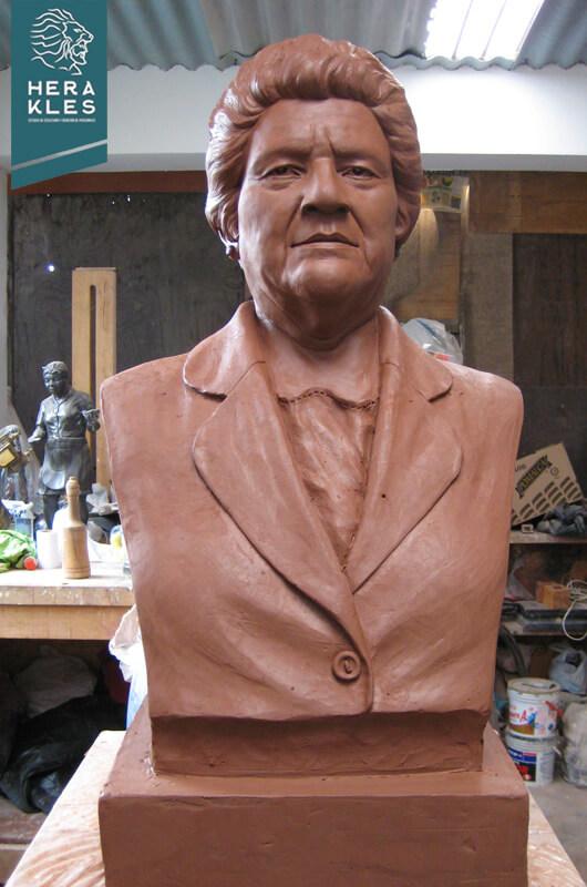 Bustos Herakles Estudio de Escultura