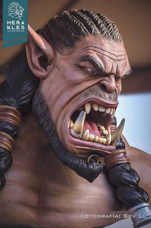 World Of Warcraft - Durotan life size sculpture